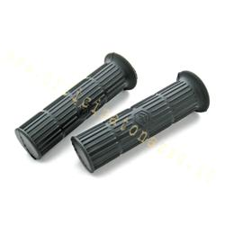 Paar schwarze Knöpfe Ø 24 mm für Vespa PX 1. Serie - Sprint Veloce - Rallye - TS - GT - GTR