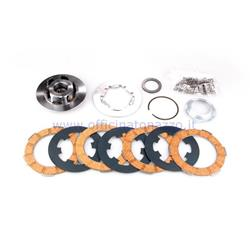 FC1192R - Complete clutch assembly Newfren 4 discs 24 springs for Vespa 50 - Primavera - ET3 - PK