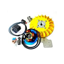 Parmakit ignition variable advance cone 20 - 1,5 kg with flywheel machined from solid for Vespa PK XL - ETS - HP - FL (yellow fan)