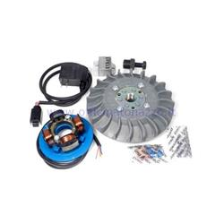 Ignition Parmakit variable advance cone 57001.22 - 19 kg with IDM flywheel riveted for Vespa 1.0 - ET50 - Primavera - PK (gray fan)