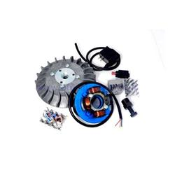 Ignition Parmakit variable advance cone 57090.22 - 19 kg with flywheel machined from solid for Vespa 1.0 - ET50 - Primavera - PK (gray fan)