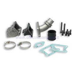 205460 - Malossi lamellar intake manifold to crankcase Ø25 with two holes for Vespa PK 50/125