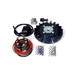 Parmakit ignition variable advance cone 20 - 1,5 kg with flywheel machined from solid for Vespa PK XL - ETS - HP - FL (carbon look fan)