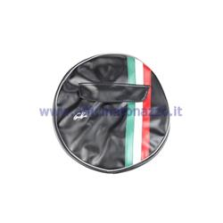 "P90230HNERO - Black spare wheel cover with tricolor band and document pocket for 10 ""rim"