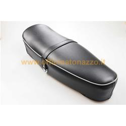 75507100 - Seat for Vespa 50SS / 90SS black, edge: dark gray, without lock, with seat belt (opening opposite)