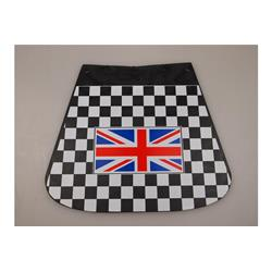 742377 - Checkered mudflaps with English flag for Vespa