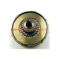FCC0518M - Complete Ferodo clutch group 4 discs 6 springs Ø flange 97mm pinion Z21 for Vespa PX 150