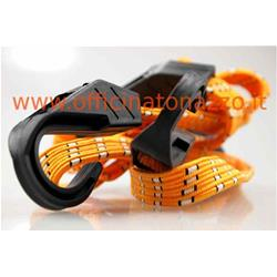 40 942 0380 - High resistance universal elastic cord with flat plastic hooks (2 Pcs)