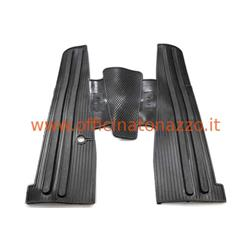 "FA4110 - Black rubber footboard mat for Vespa (with side print ""PX-E"")"