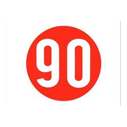 Pegatina Vespa 90 km / h 60s (diámetro 12 mm)