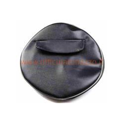"""P90230 - 8 """"noir - Enjoliveur de roue de secours noir foncé sans écriture avec pochette pour documents pour jante 8"""""""