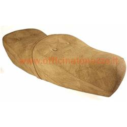 SP308B - Two-seater foam saddle with lock type King & Queen beige for Vespa 125/150/200 - GT - GTR - Sprint Veloce - TS - PX