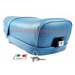 """""""Blue jeans"""" color two-seater saddle for Vespa 50 - Primavera - ET3 (with lock)"""