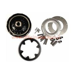Clutch kit incl. primary transmission torque -BGM Pro Superstrong CR80, type Cosa2 / FL- 63 teeth elastic gear (straight teeth) - Vespa PX200, Rally200 - Z23 / 63 (2,74)