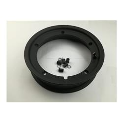 "81056100 - SIP tubeless rim 2.50x10 "", black for Vespa 50-125-150-200, Rally, PX, Sprint etc. (pre-assembled valve and nuts included)"