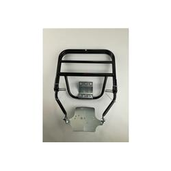 CU32 / C4NERO - Schwarzer Gepäckträger für Vespa PK - ETS (Plattenbefestigung)