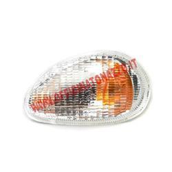 Clignotant avant gauche Piaggio, pour Vespa ET581633 / ET2 4-50ccm, blanc, sans ampoules, porte-ampoule de clignotant: Ba150s, avec homologation E