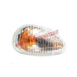 Indicateur de direction avant droit Piaggio, pour Vespa ET581634 / ET2 4-50ccm, blanc, sans ampoules, douille de clignotant: Ba150s, avec homologation E