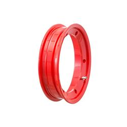 "81054100 - SIP tubeless rim 2.10x10 "", Red for Vespa 50-125-150-200, Rally, PX, Sprint etc. (pre-assembled valve and nuts included)"