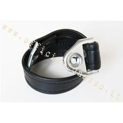 Central belt length 46cm black for Vespa ET3 saddle with pointed tip.