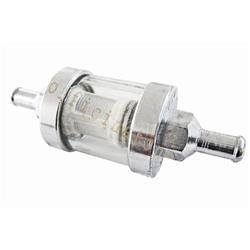 40 366 0305 - Chrome fuel filter reusable for Vespa (diam.6mm)