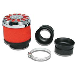 Red Filter E13 air filter Ø 42/50/60 straight for PHBH - MIKUNI - KEIHIN carburetors