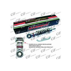 Front shock absorber CARBONE HI TECH CHROME adjustable for Vespa 50 - ET3 - Primavera - PK50S