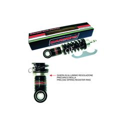 Front shock absorber CARBONE HI TECH BLACK adjustable for Vespa 50 - ET3 - Primavera - PK50S