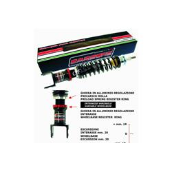CARBONE HI TECH BLACK rear shock absorber for Vespa PK