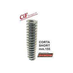 Front shock absorber spring length 155mm chrome, reinforced for Vespa 125 VM1T 085872 -> / VN - ACMA - VNA - VNB - 150 VL - VB1 - VBA - VBB