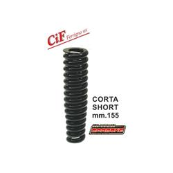 Front shock absorber spring length 155mm black, reinforced for Vespa 125 VM1T 085872 -> / VN - ACMA - VNA - VNB - 150 VL - VB1 - VBA - VBB