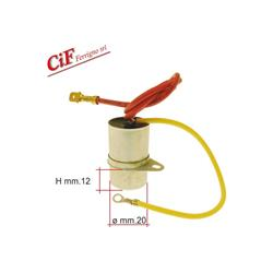 Reinforced two-wire capacitor - Vespa VESPA P125X - P150X (6V without arrows)