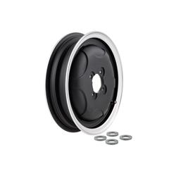 "Black SIP tubeless rim with 2.15-10 ""polished edge for Vespa"