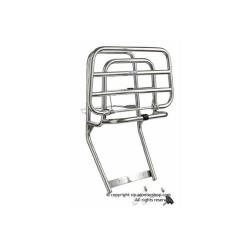 Chromed rear luggage rack with wheel holder for Vespa 50 Special - Primavera - ET3