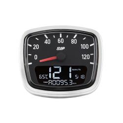Odometer and digital tachometer 2.0 with black background for Vespa VNB, VNA