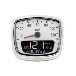 Odometer and digital tachometer 2.0 with white background for Vespa VNB, VNA