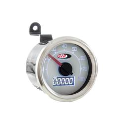 Odometer and digital tachometer 2.0 with white background for Vespa 50