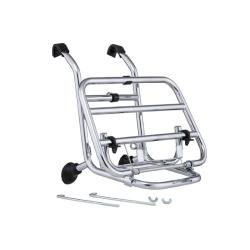 Chrome front luggage rack with petrol tank holder for Vespa PX - PE - LML - GT - GTR - GL - TS - GS - Rally