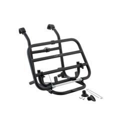 Black front luggage rack with petrol tank holder for Vespa PX - PE - LML - GT - GTR - GL - TS - GS - Rally