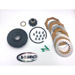 Complete 10 spring VMC clutch unit with carbon discs for Vespa PX