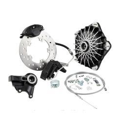Grimeca disc brake front semi-hydraulic 16mm axle with original black hub for Vespa PX