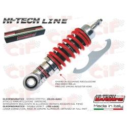 Front shock absorber CARBONE HI TECH CHROME adjustable for Vespa 50 - ET3 - Primavera - PK50S