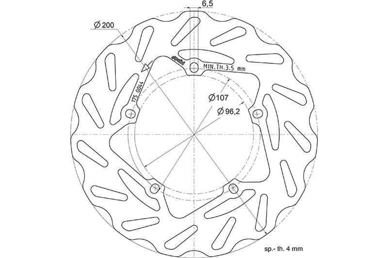 Disc Brake Polini For Vespa Px