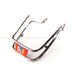 45A - Red double tube mudguard bumper for Vespa GS
