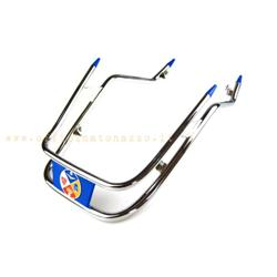 45 - Blue double tube fender bumper for Vespa 50 - ET3 - Primavera - 150 GL