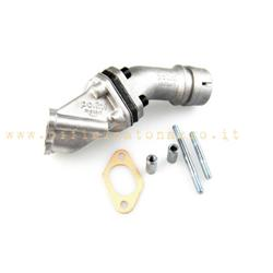 215.0116 - Polini lamellar intake manifold 19mm 2-hole rigid coupling for Vespa 50 - Primavera - ET3