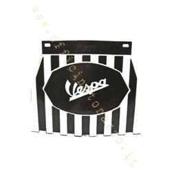 "133-SS - Mud flaps (with white ""Vespa"" writing) in black and white ""Europa"" model rubber"