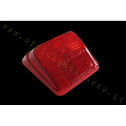 Luz trasera roja de carrocería brillante para Vespa 50 R segunda serie
