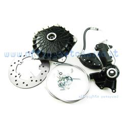 30007000 - Grimeca disc brake front semi-hydraulic 16mm axle with original black hub for Vespa PX