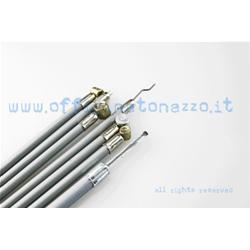Gray cables / sheaths kit with internal self-lubricating sheath for Vespa Rally - GT - GTR - TS GL - VBB - VNB - VNA - Sprint - Super